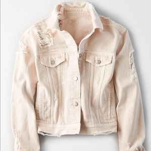 Distressed American Eagle jean jacket